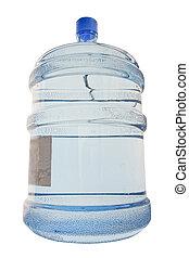 Full cooler bottle under the white background