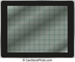 Black abstract tablet pc on white background - Black...