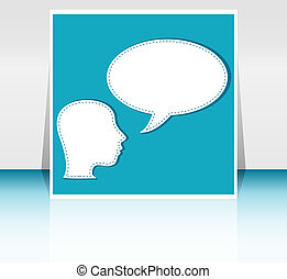 man with Speech Bubbles over his head