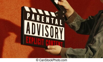 Parental Advisory, sequence - Boy with Clapperboard,...