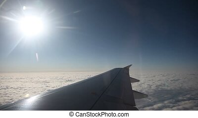 Airplane flying - video footage of a Flying Airplane over...