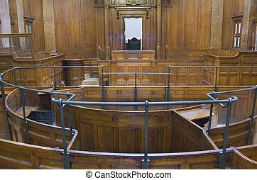 Very old courtroom 1854 - Very old courtroom (1854) with...