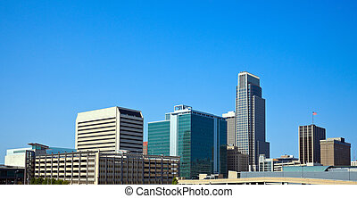 Morning in Omaha, Nebraska Panoramic view of the city