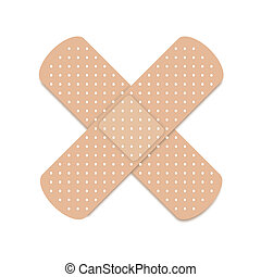 A band aid isolated against a white background