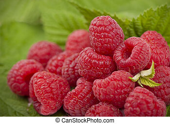 Raspberries close up. Macro photo - raspberry texture...
