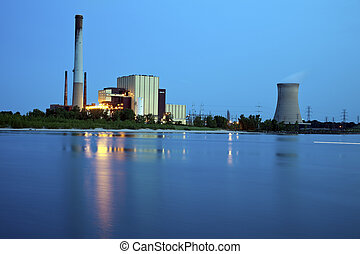 Industrial area in Michigan City, Indiana