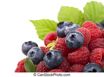 Strawberries, blueberries