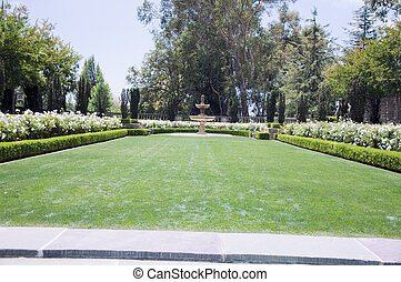 Flowerbeds in one of the park