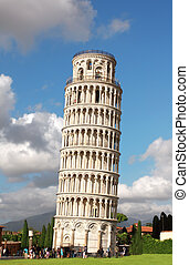 Leaning Tower of Pisa Summer day