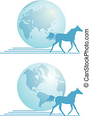 express delivery - vector concept illustration of the...