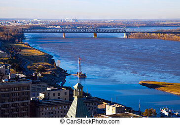 Mississippi River in Memphis - Mississippi River in downtown...