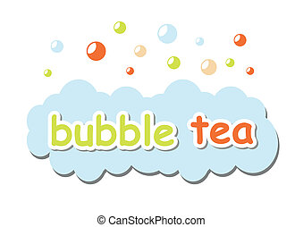 Bubble tea on white