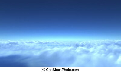 flight over clouds, loop-able 3d animation version without...