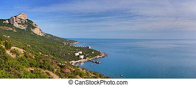 Panorama of Cape St. Elias. Crimea at summer