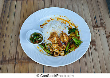 thai food - a dish of traditional thai fast food
