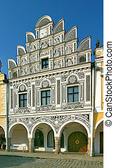 Telc 8d - one from a renaissance houses on main square in...