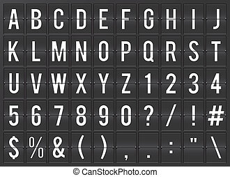 Airport flip board full alphabet - Airport flip chart...