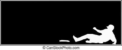 Baseball Sliding Home Sport Card - Baseball Sliding Home on...