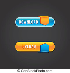 Download and upload button set