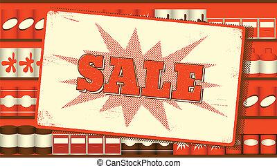 Vintage sale sign