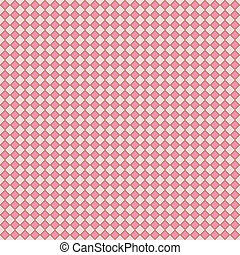 Pink & Brown Diagonal Checks - Seamless pattern of pink...