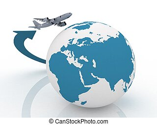 avião, Viagem