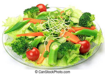 salad - I took salad in a white background.