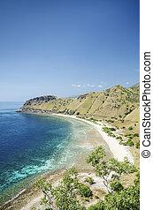 beach near dili east timor, timor leste - fatucama beach...