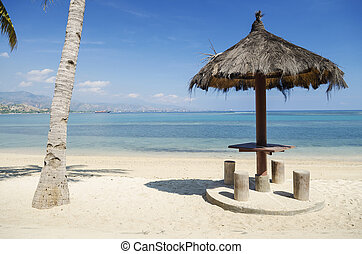 beach near dili east timor - areia branca beach near dili...