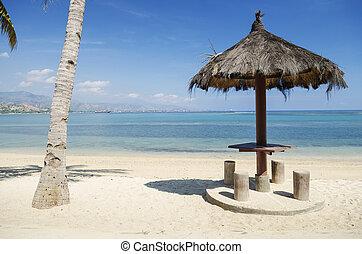 beach near dili east timor - areia branca beach near dili...