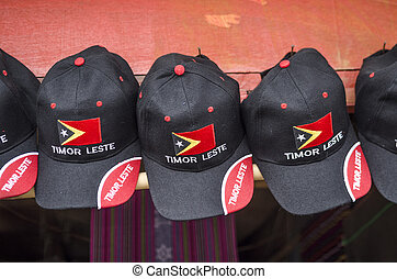 souvenirs in dili east timor - flag cap souvenirs in dili...