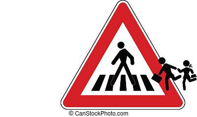 Amazing traffic signal: pedestrian crossing