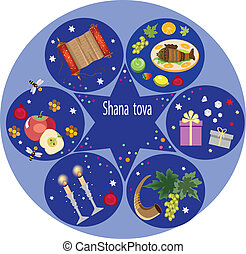 shana tova,jewish new year.