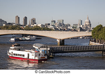 Waterloo Bridge on the River Thames, London, England, UK