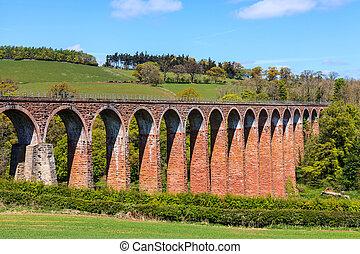 Arches bridge over a valley
