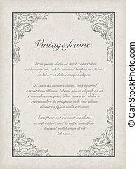 Vintage frame template Vector, EPS10
