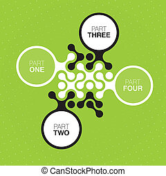 Green buttons (abstract interface design). Vector, EPS10