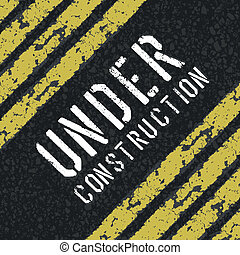 Under construction abstract sign Vector, EPS8