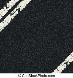 Fragment of asphalt road Vector, EPS10