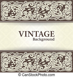 Vintage background - The vector image of Vintage background...