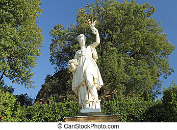 Sculpture of Ceres greek Demeter ancient roman goddess - in...