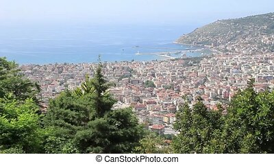 Alanya - View of the sailing ships in the port of Alanya....