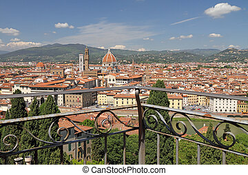 fantastic view of Florence city - from terrace of Villa...
