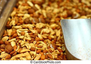 salty peanuts - Salty peanuts in a market