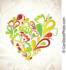 Abstract heart colorful. Vector background