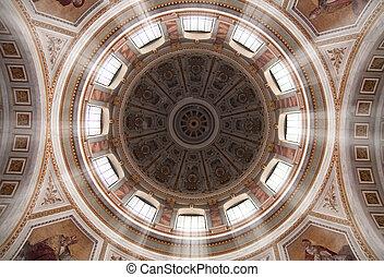 Basilica cupola - The sun shines through the Basilica tower...