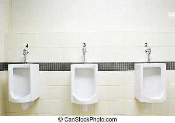public toilet - clean male public tilet room