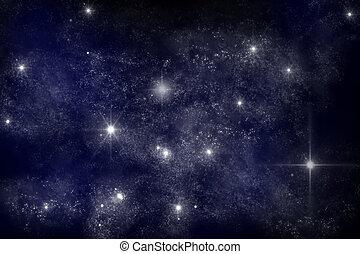 Galaxy - art work of galaxy on dark blue background