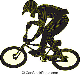 bicyclist made in eps