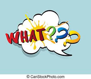 Comic cloud - Question on pop art cloud vector illustration